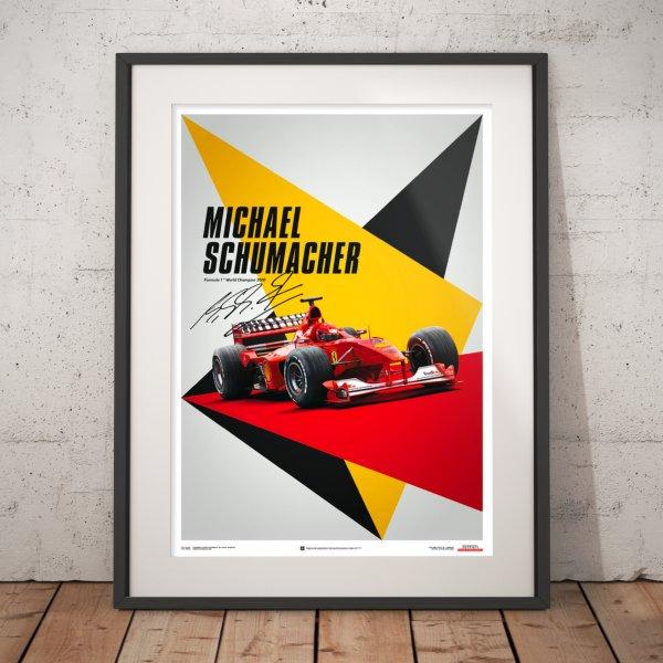 Ferrari F1-2000 – Michael Schumacher – Germany – Suzuka GP – Poster