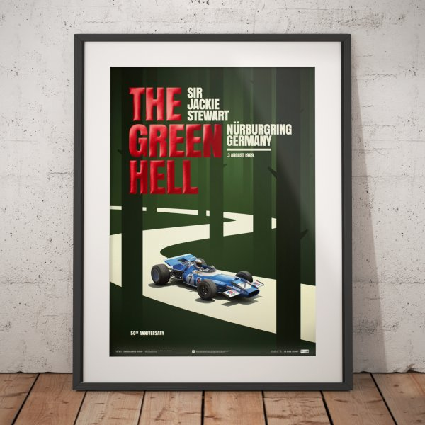 Matra MS80 – Sir Jackie Stewart – The Green Hell – Nürburgring – 1969 – Poster | Collector's Edition