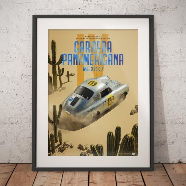 Porsche 356 SL – Past – Carrera Panamericana – 1953 – Poster | Collector's Edition