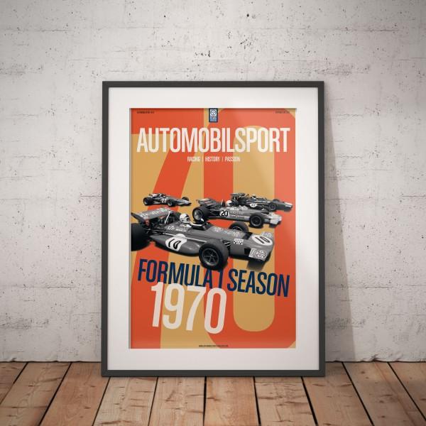 Gerahmtes Poster AUTOMOBILSPORT #24 (02/2020) – Formel-1-Saison 1970