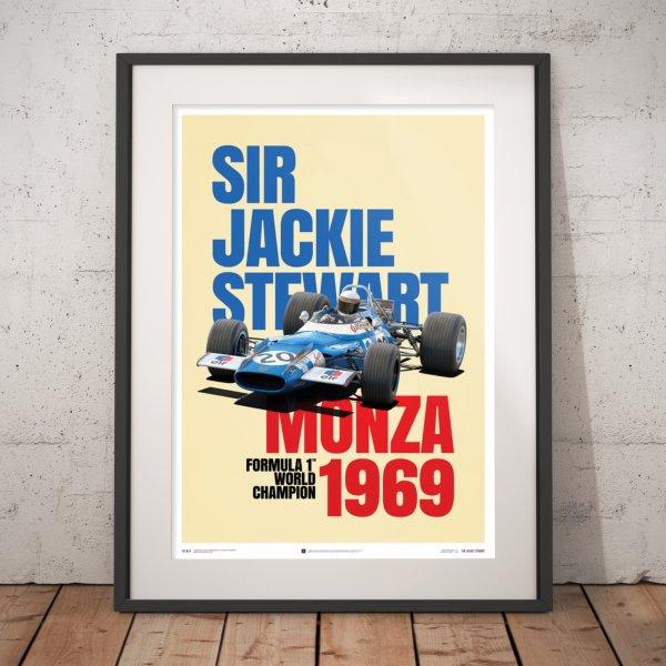 Matra MS80 – Sir Jackie Stewart – Monza Victory – 1969 – Poster
