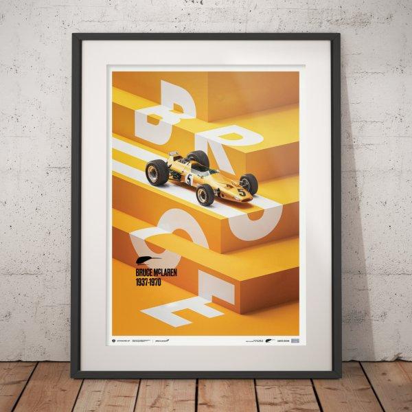 McLaren Papaya – Bruce McLaren Special – Spa-Francorchamps Circuit – 1968 – Poster | Limited Edition