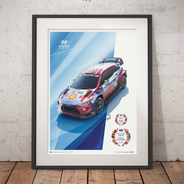 Hyundai Motorsport – WRC Manufacturers' Champions 2019 and 2020* – Poster | Limited Edition