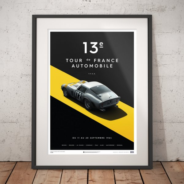 Ferrari 250 GTO – Silver – Tour de France – 1964 – Poster | Limited Edition