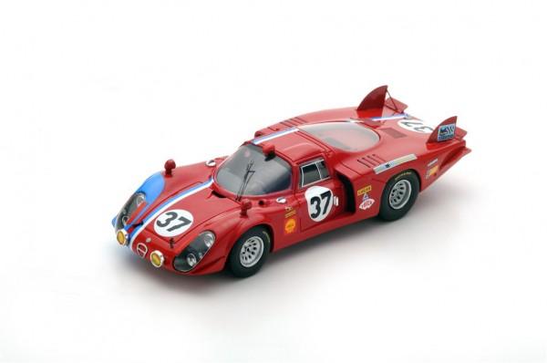 Alfa Romeo T33/2 Pilette/Slotemaker 24h Le Mans 1968 Spark 1:43
