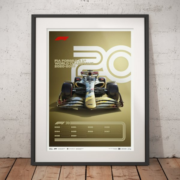 Formula 1® Decades – 2020s The Future Lies Ahead – Poster | Limited Edition