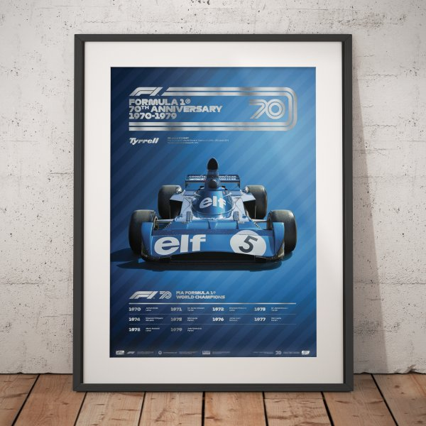 Formula 1® Decades – 70s Tyrrell – Poster | Collector's Edition