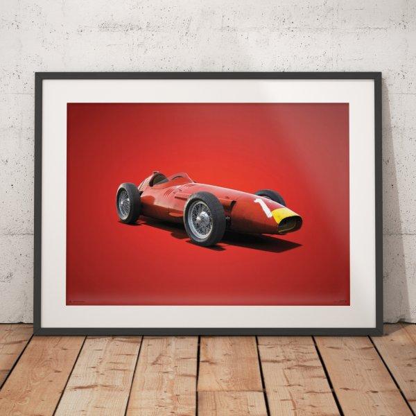 Maserati 250F – Juan Manuel Fangio – 1957 – Colors of Speed Poster