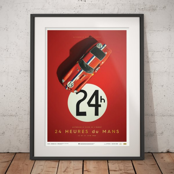 Ferrari 250 GTO – Red – 24h Le Mans – 1962 – Poster | Collector's Edition