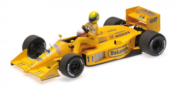 Lotus 99T Saturo Nakajima Monza 1987 Senna onboard Minichamps 1:18