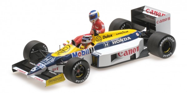 Williams FW11 Nelson Piquet German GP 1986 Keke Rosberg onboard Minichamps 1:18