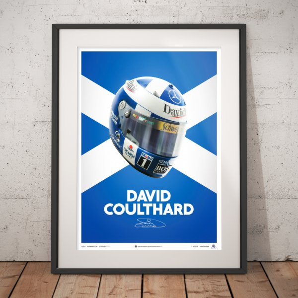 David Coulthard – Helmet – 2000 – Poster