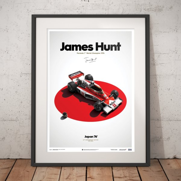 McLaren M23 – James Hunt – Japan – Japanese GP – 1976 – Poster | Limited Edition
