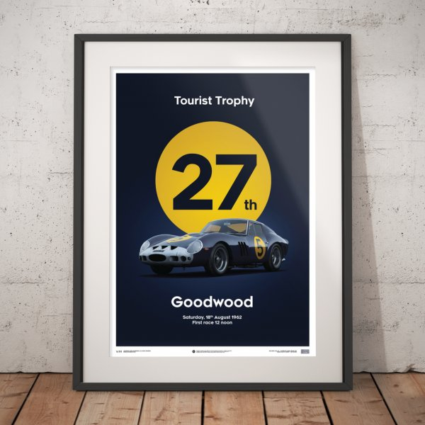 Ferrari 250 GTO – Dark Blue – Goodwood TT – 1962 – Poster | Limited Edition