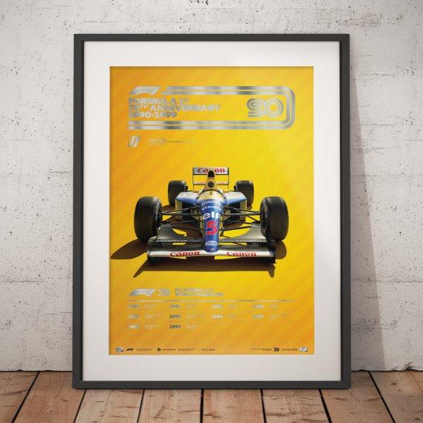 Formula 1® Decades – 90s Williams – Poster | Collector's Edition