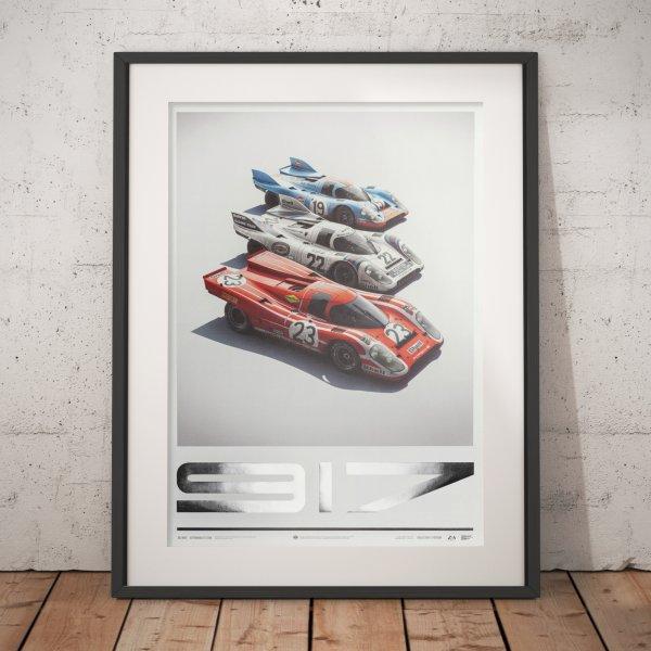 Porsche 917 – Salzburg & Martini & Gulf – 24h Le Mans – Poster | Collector's Edition