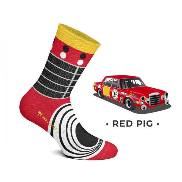 Heel Tread Socken – Red Pig