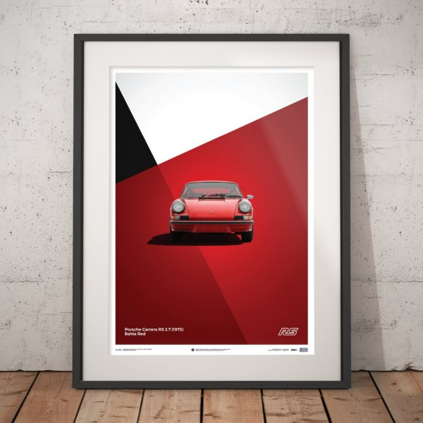 Porsche 911 RS – Red – Poster | Limited Edition