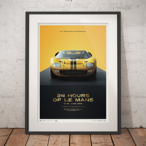Ford GT40 – XGT-1 – 24h Le Mans – 1966 Poster | Collector's Edition
