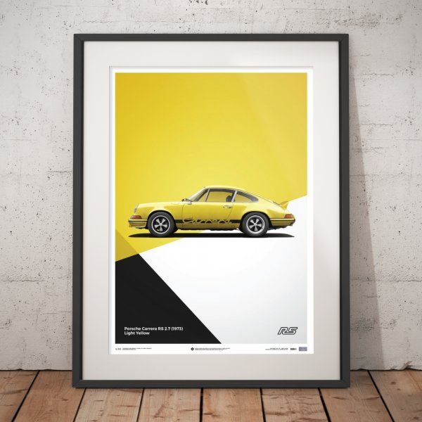 Porsche 911 RS – Yellow – Poster | Limited Edition