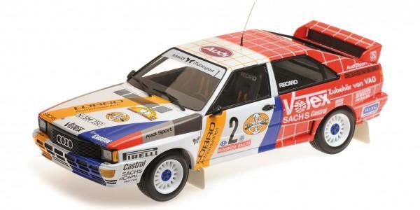 Audi Quattro Demuth/Lux Rallye Hunsrück 1984 Minichamps 1:18