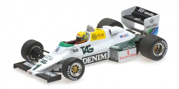 Williams FW08C Ayrton Senna Donington 1983 Testing Minichamps 1:43