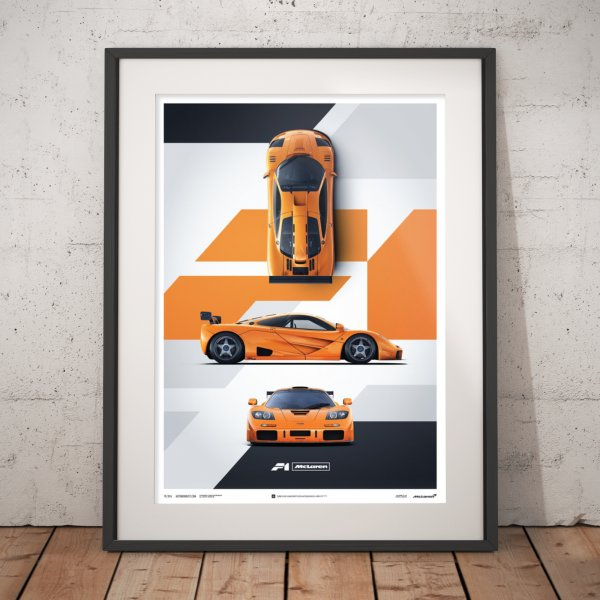 McLaren F1 LM – Papaya Orange – Poster