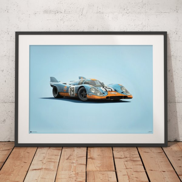 Porsche 917 – Gulf – 24h Le Mans – 1971 – Colors of Speed Poster