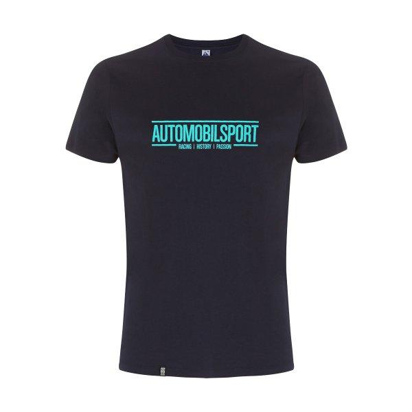 SPORTFAHRER T-shirt –AUTOMOBILSPORT Logo cyan