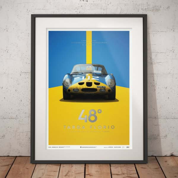 Ferrari 250 GTO – Blue – Targa Florio – 1962 – Poster | Collector's Edition