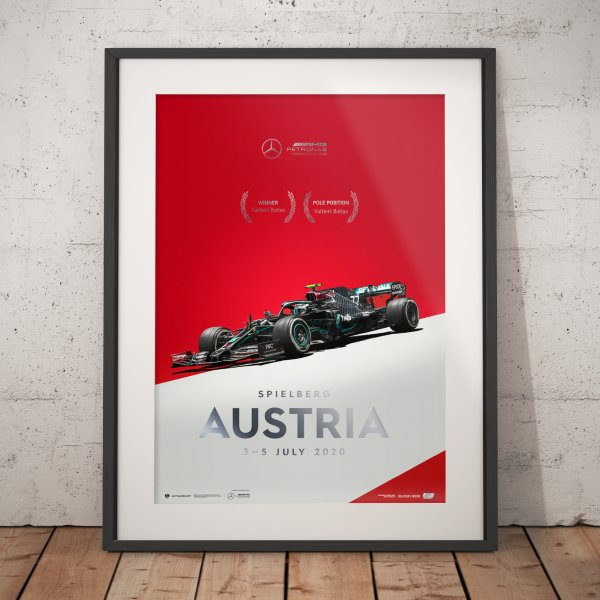 Mercedes-AMG Petronas F1 Team – Austria 2020 – Valtteri Bottas – Poster   Collector's Edition