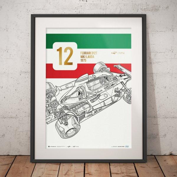 Giorgio Piola – Ferrari 312 T – Niki Lauda – 1975 – Poster | Collector's Edition