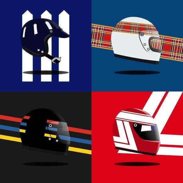 Heel Tread Socks – Helmet Pack Hill, Stewart, Hunt, Lauda