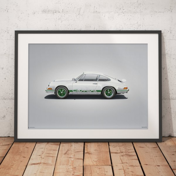 Porsche 911 RS – White – Colors of Speed Poster