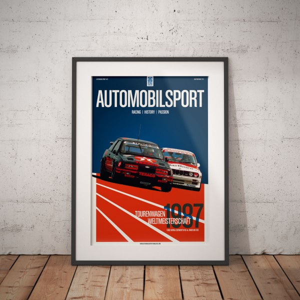 Poster AUTOMOBILSPORT #11 (2 sided) – Ford Sierra Cosworth RS 500
