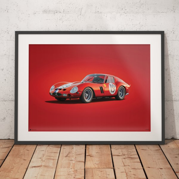 Ferrari 250 GTO – Red – 24h Le Mans – 1962 – Colors of Speed Poster