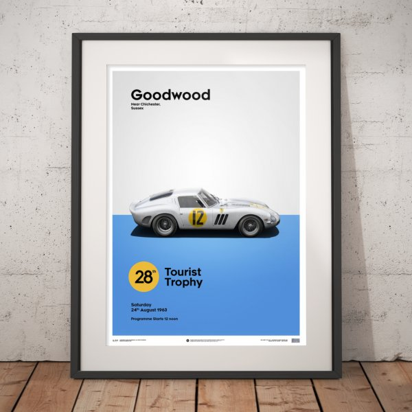 Ferrari 250 GTO – White – Goodwood TT – 1963 – Poster | Limited Edition
