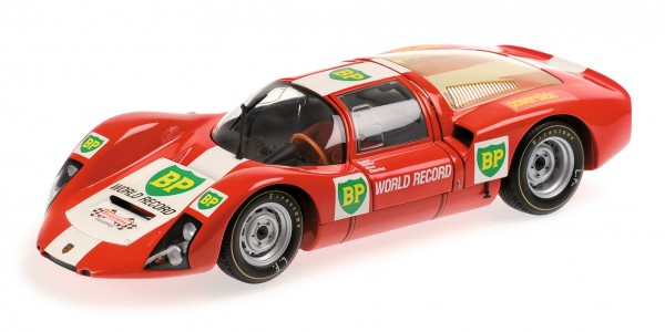 Porsche 906E BP world record runs Monza 1967 Minichamps 1:18