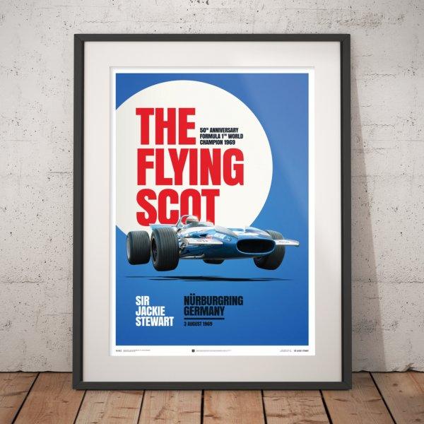Matra MS80 – Sir Jackie Stewart – The Flying Scot – Nürburgring GP – 1969 – Poster