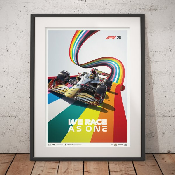 Formula 1® We Race As One – Fight Against Covid-19 and Inequality – Poster | Limited Edition
