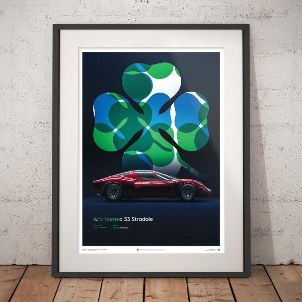 Alfa Romeo 33 Stradale – Red – 1967 – Poster