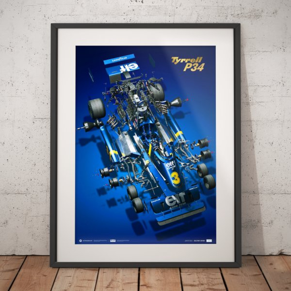 Tyrrell P34 – The Joy of Six Wheels – Poster | Collector's Edition