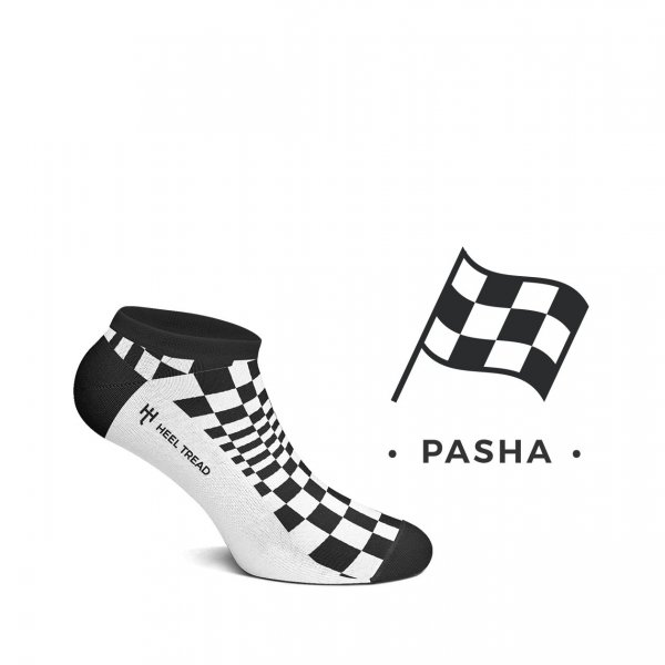 Heel Tread Sneakersocken – Pasha black/white