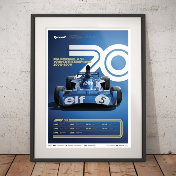 FORMULA 1® DECADES – 70s Tyrrell – Poster | Limited Edition