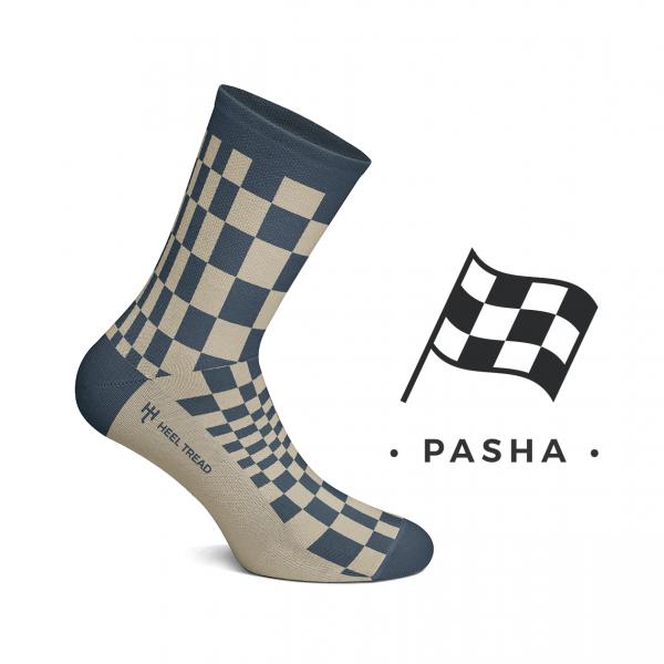 Heel Tread socks – Pasha navy/tan