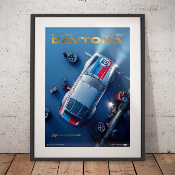 Porsche 911 Carrera RSR – 24h of Daytona – 1973 – Poster | Collector's Edition