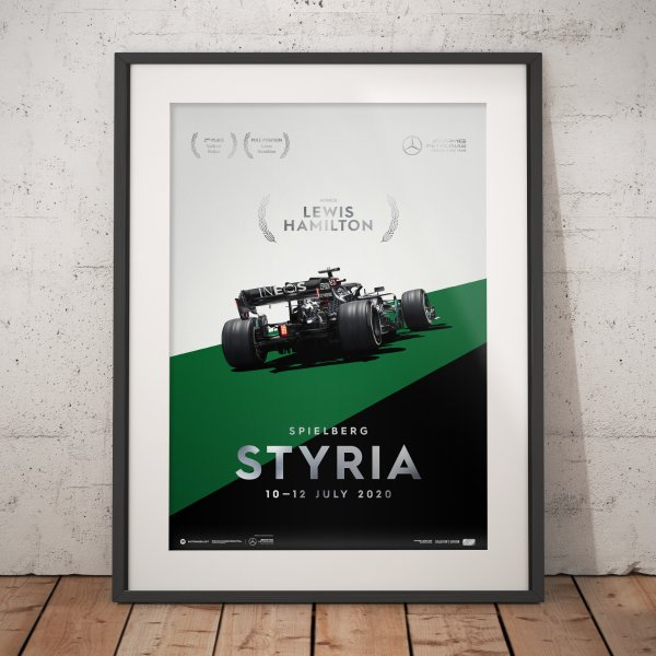 Mercedes-AMG Petronas F1 Team – Styria 2020 – Lewis Hamilton – Poster   Collector's Edition