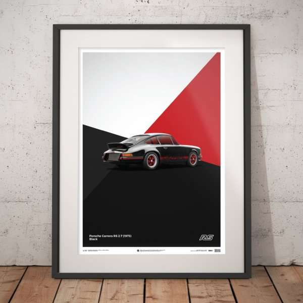 Porsche 911 RS – Black – Poster | Limited Edition