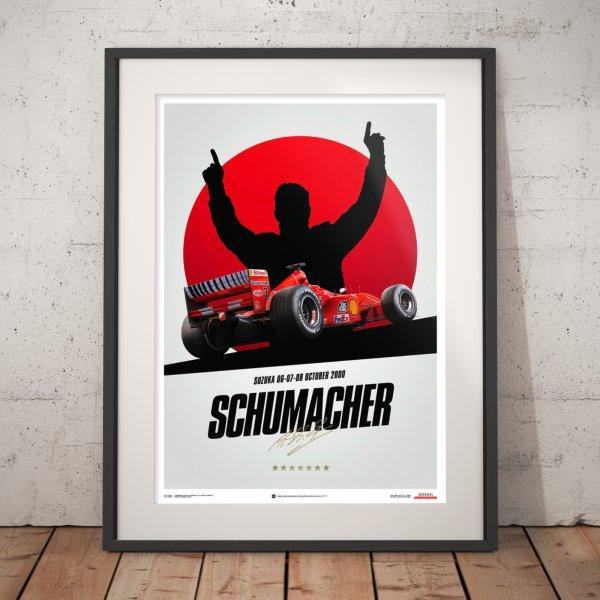 Ferrari F1-2000 – Michael Schumacher – Japan – Suzuka GP – Poster