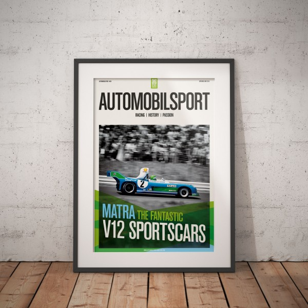 Poster AUTOMOBILSPORT #08 (2 sided) – Matra V12-sportscars